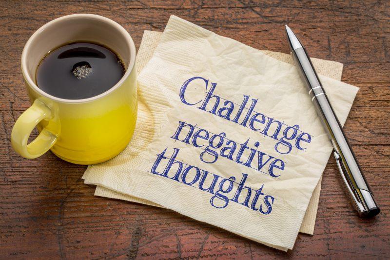 Challenge negative thought patterns