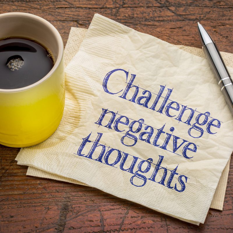 Challenge negative thought patterns