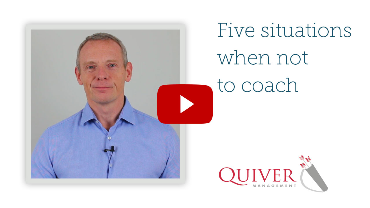 5 situations when not to coach